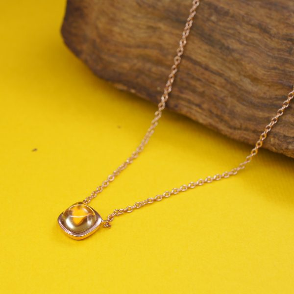 YELLOW-SUMMER-6mm-Cushion-Citrine-Necklace